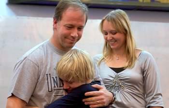 С благодарностью о крещении нашего сына