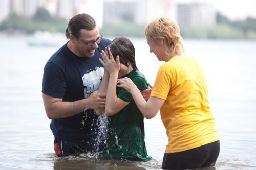 Долгожданное крещение дочери