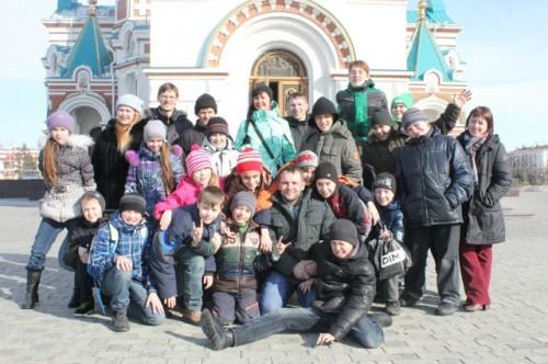 Дети новосибирских христиан в гостях у Омской Церкви