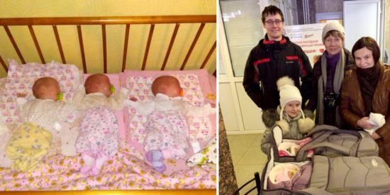 В Нижнем Новгороде у Алексея и Елены родилась тройня