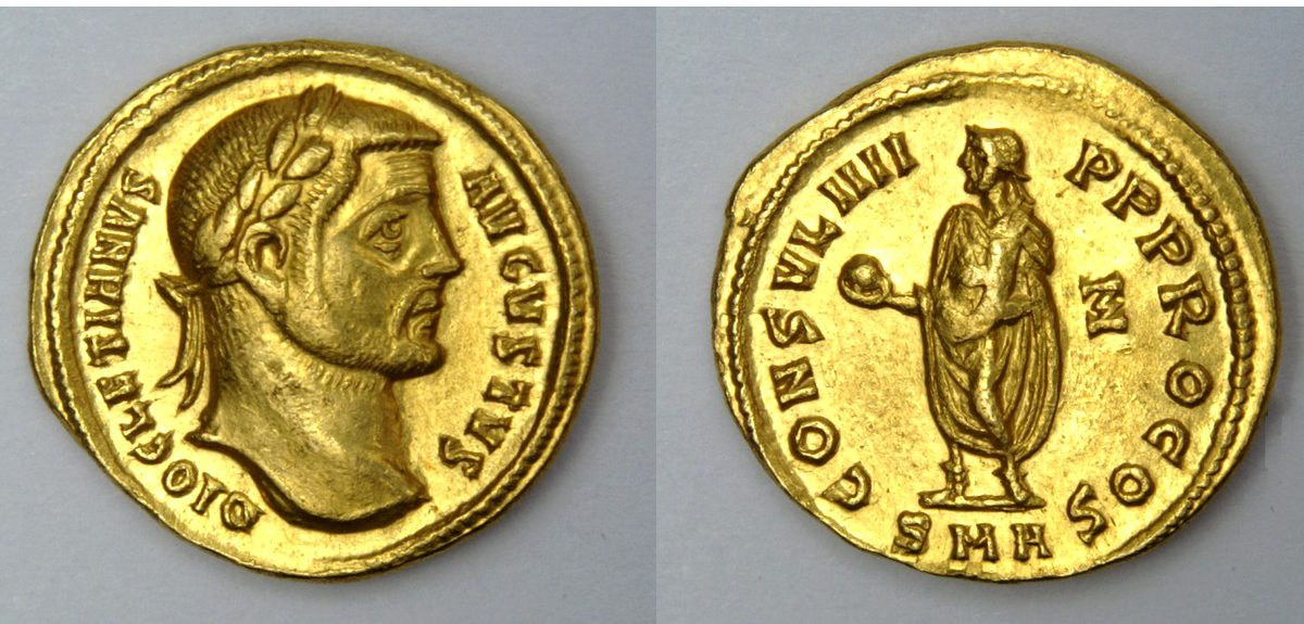 Золотая монета Траяна-Августа обнаружена археологами