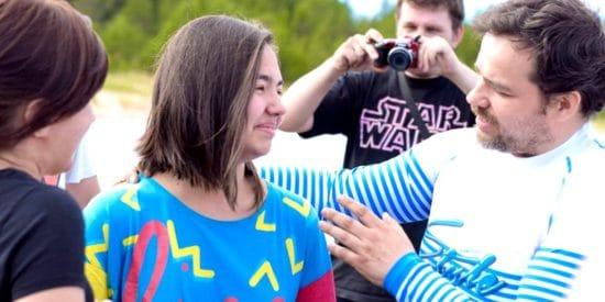 Крещение на Ладожском озере